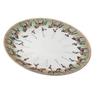 Horseback Sommersault Dinner Plate