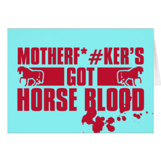 Horseblood Card