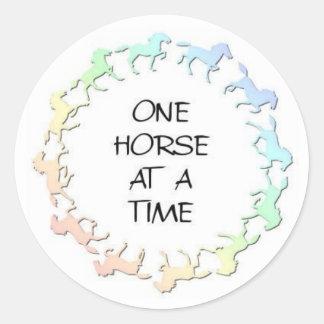 horsecirclelogo classic round sticker