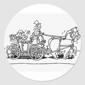HORSEDRAWN CARRIAGE STICKER