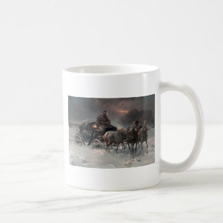Horsedrawn Sleigh in the Night Coffee Mug