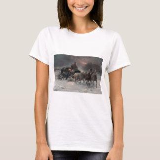 Horsedrawn Sleigh in the Night T-Shirt