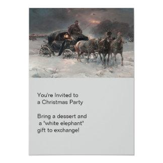 Horsedrawn Wagon at Night Card