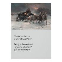 Horsedrawn Wagon at Night Invitation