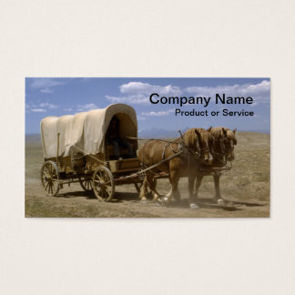 Horsedrawn Wagon business card