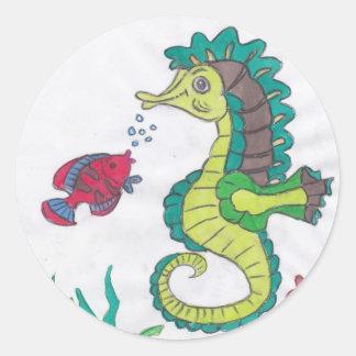 Horsefish Classic Round Sticker