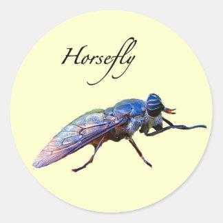 Horsefly Classic Round Sticker