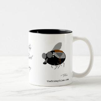 Horsefly with Pearl Earring Two-Tone Coffee Mug