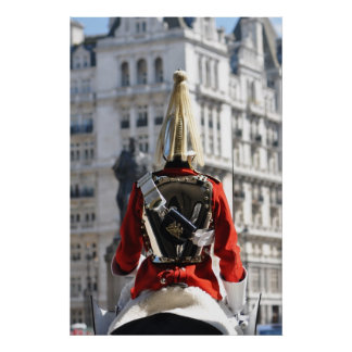 Horseguards on duty in London Poster