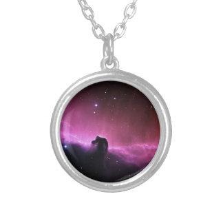 Horsehead Nebula Barnard 33 NASA Silver Plated Necklace