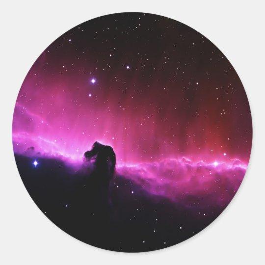 Horsehead Nebula Classic Round Sticker