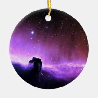 Horsehead Nebula colorful night sky scenery Ceramic Ornament
