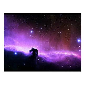 Horsehead Nebula colorful night sky scenery Postcard