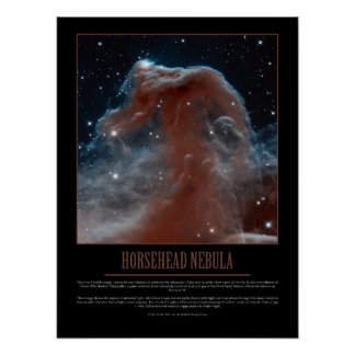 HORSEHEAD NEBULA - Hubble Poster