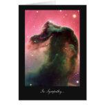 Horsehead Nebula - In Sympathy Greeting Cards