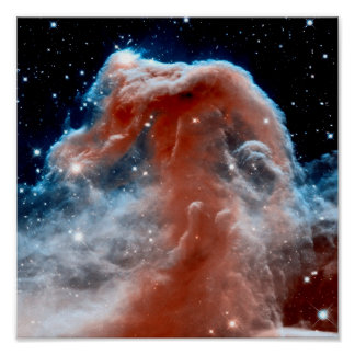 Horsehead Nebula Infrared - Hubble Space Photo Poster