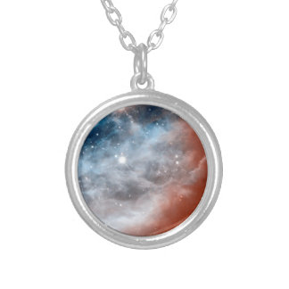 Horsehead Nebula Infrared - Hubble Space Photo Silver Plated Necklace