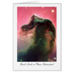 Horsehead Nebula - Interview Good Luck Greeting Cards