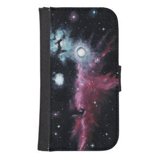 Horsehead Nebula Oil Painting Galaxy S4 Wallet Case