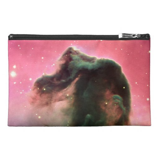 Horsehead Nebula Pink Space Travel Accessory Bags