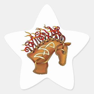 Horsehead Calcomania Forma De Estrella Personalizada