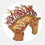 Horsehead Pegatina Redonda