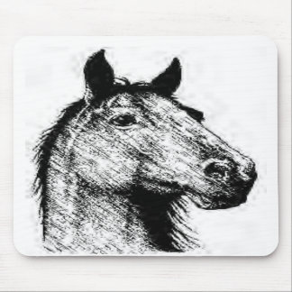 Horsehead pencil drawing mousepads
