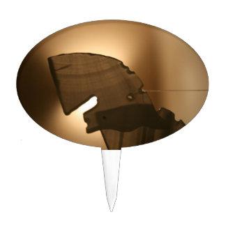 Horsehead shaped windchime cake topper