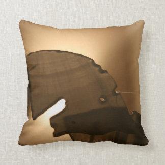 Horsehead shaped windchime throw pillow