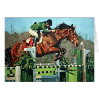 HorseJump highres Greeting Card