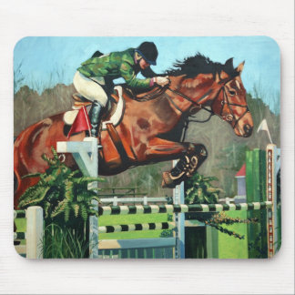 HorseJump highres Mouse Pad