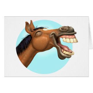 Horselaugh Greeting Card