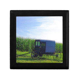 Horseless Carriage digital oil on canvas simulatio Jewelry Box