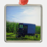 Horseless Carriage digital oil on canvas simulatio Ornaments