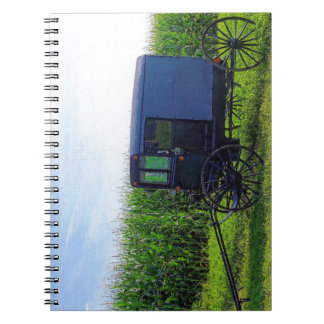 Horseless Carriage digital oil on canvas simulatio Spiral Notebook