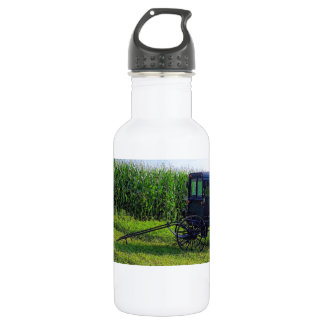 Horseless Carriage digital oil on canvas simulatio Water Bottle