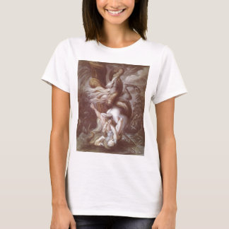 Horseman Attacked By A Giant Snake T-Shirt