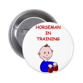 HORSEMAN PINBACK BUTTON