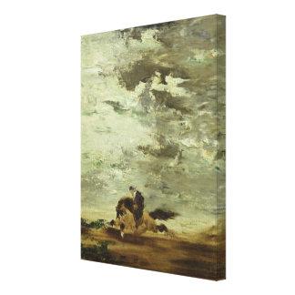 Horseman Stretched Canvas Print