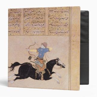 Horseman drawing his bow binder