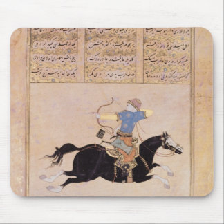 Horseman drawing his bow mouse pad