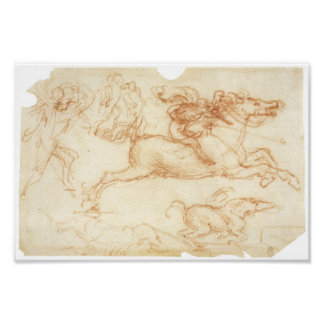Horseman Galloping, Leonardo Da Vinci Poster
