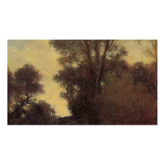 Horseman in the Forest by Camille Pissarro Business Cards