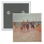 Horseman on the Beach  1902 2 Inch Square Button