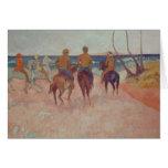 Horseman on the Beach  1902 Greeting Card