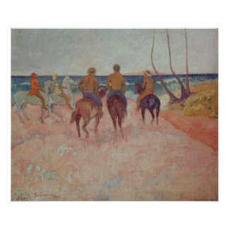 Horseman on the Beach  1902 Poster