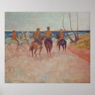 Horseman on the Beach  1902 Poster