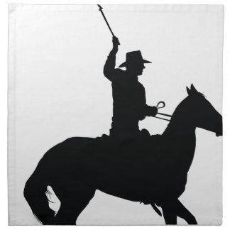 Horseman with Whip Printed Napkin