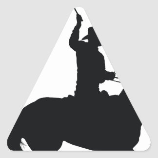 Horseman with Whip Triangle Sticker