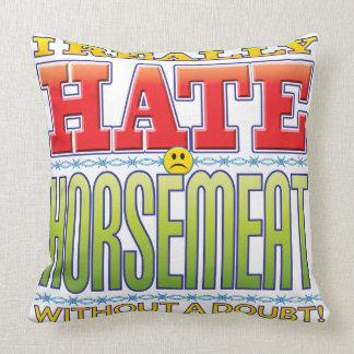 Horsemeat Hate Face Pillow
